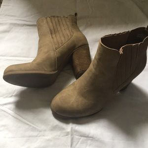 Tan Ankle Boots with Heels by Madden Girl